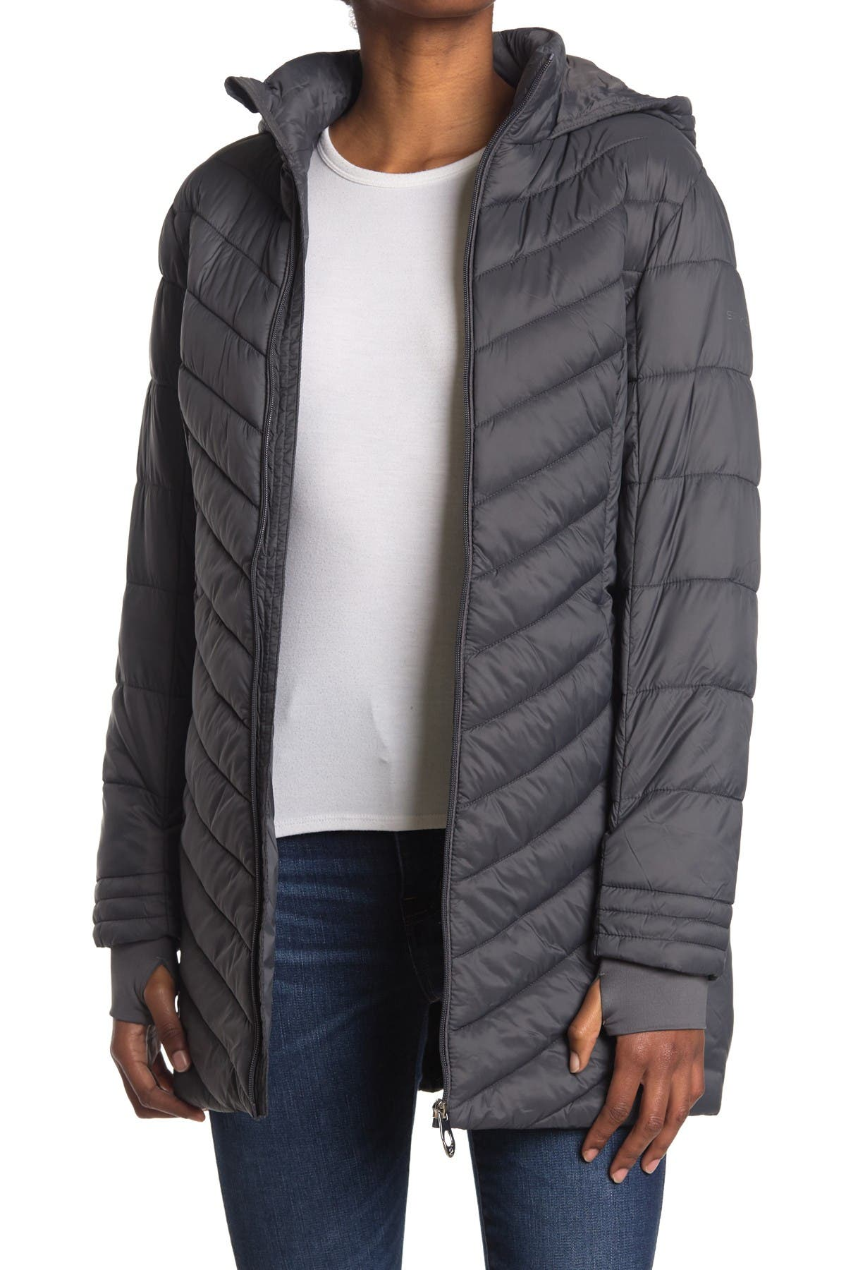 Image of SPYDER Boundless Hooded Long Puffer Jacket