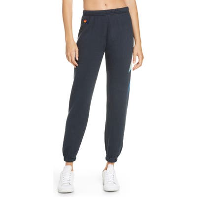 Aviator Nation Bolt Sweatpants, Black