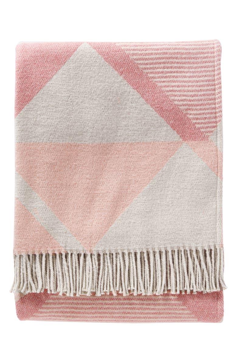 PENDLETON Serrado Throw Blanket, Main, color, DUSTY CORAL
