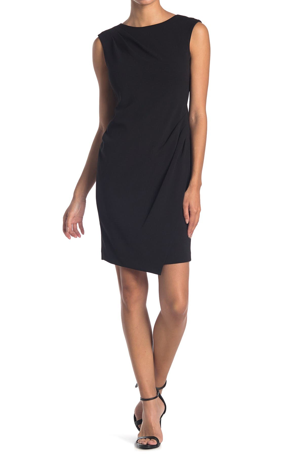 Image of Calvin Klein Side Ruched Sheath Dress