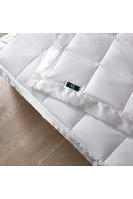 Image of Blue Ridge Home Fashions Serta 233 Thread Count White Goose Feather And White Goose Down Fiber Blanket - Twin - White