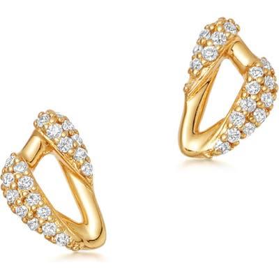 Astley Clarke Mini Vela Pave Diamond Stud Earrings