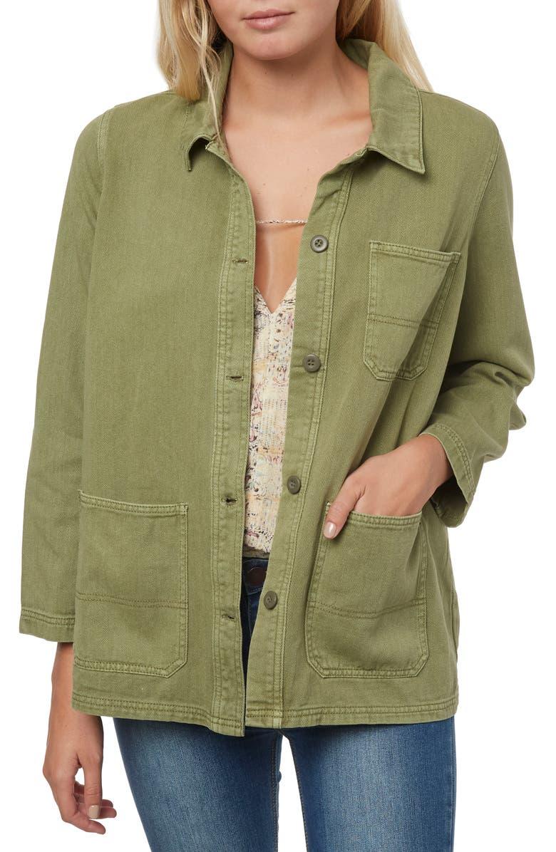 O'NEILL La Seine Twill Chore Jacket, Main, color, 300