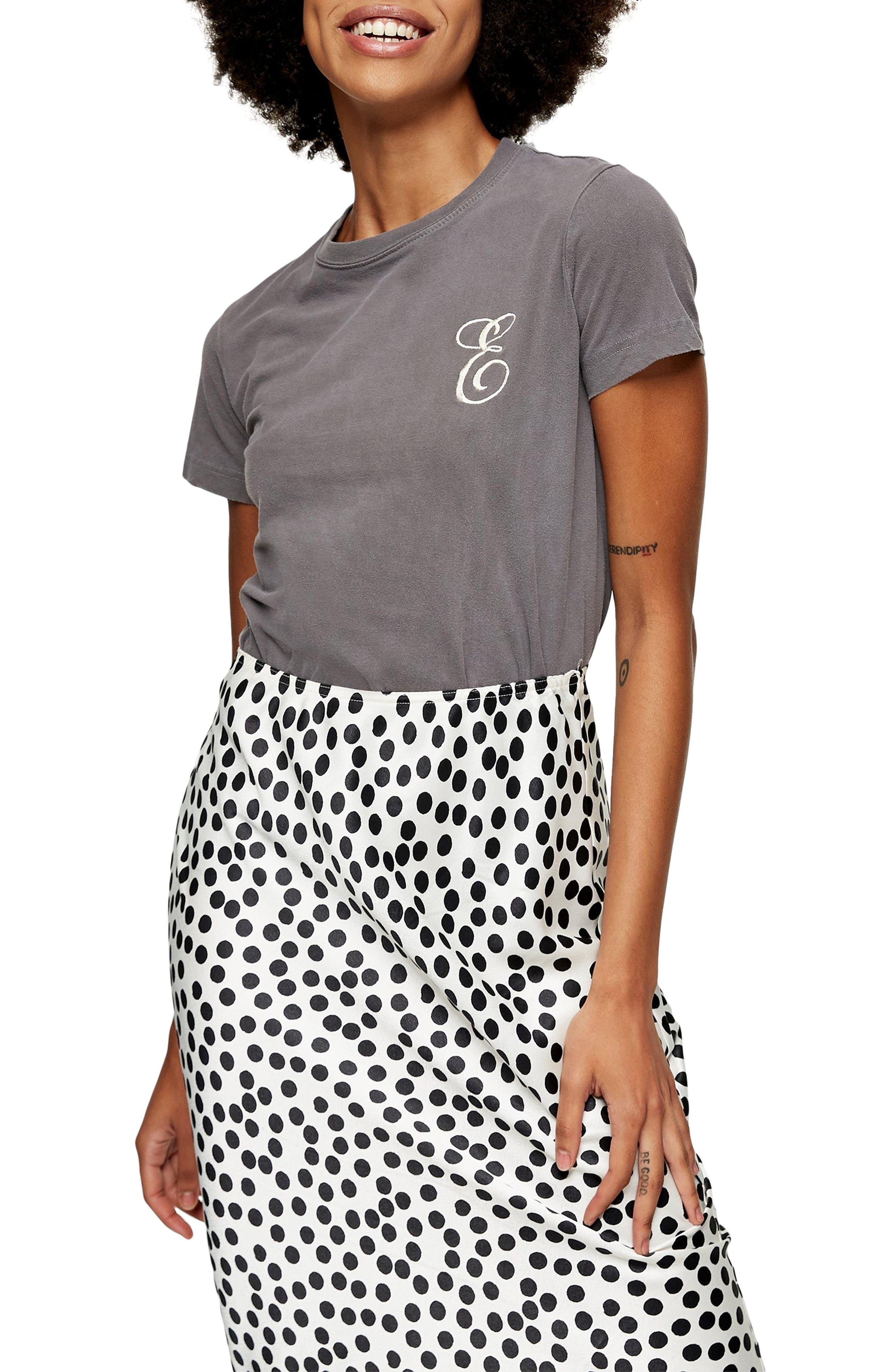 Topshop Embroidered Letter T-Shirt | Nordstrom