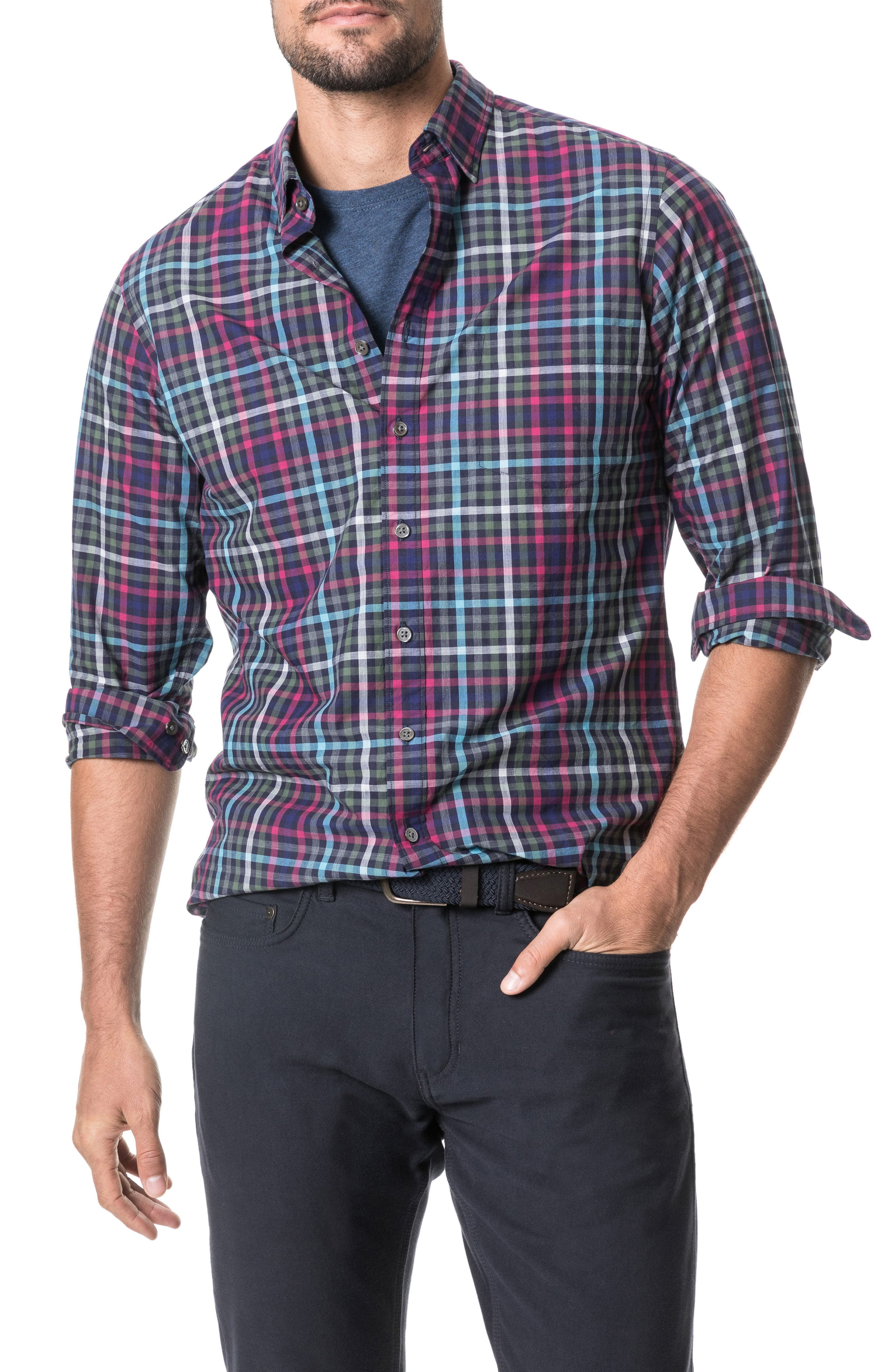 Image of RODD AND GUNN Plaid Regular Fit Shirt