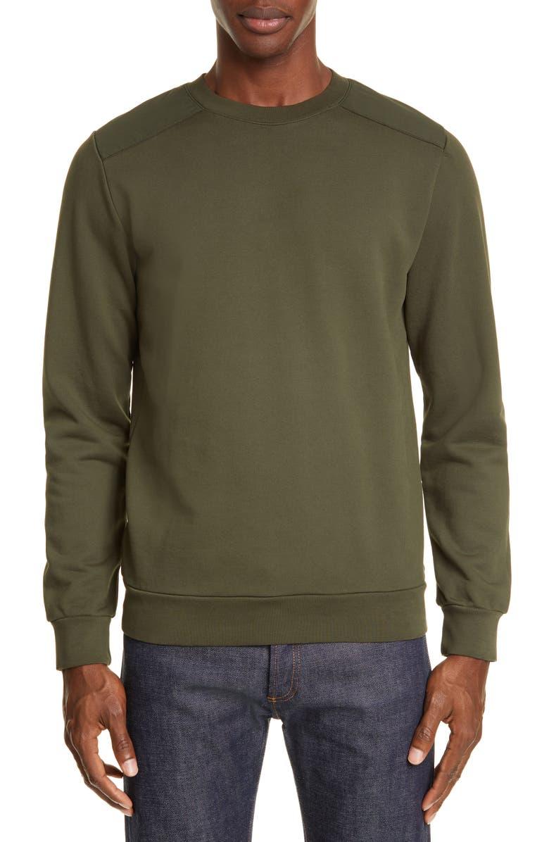 A.P.C. Shoulders Sweatshirt, Main, color, JAC KAKI MILITAIRE