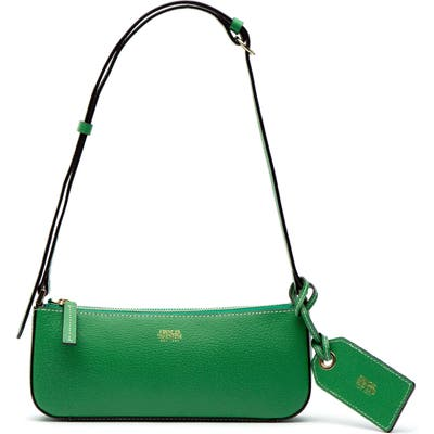 Frances Valentine Boarskin Leather Baguette Bag - Green
