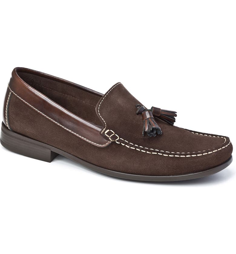 SANDRO MOSCOLONI Hojas Tassel Loafer, Main, color, BROWN LEATHER