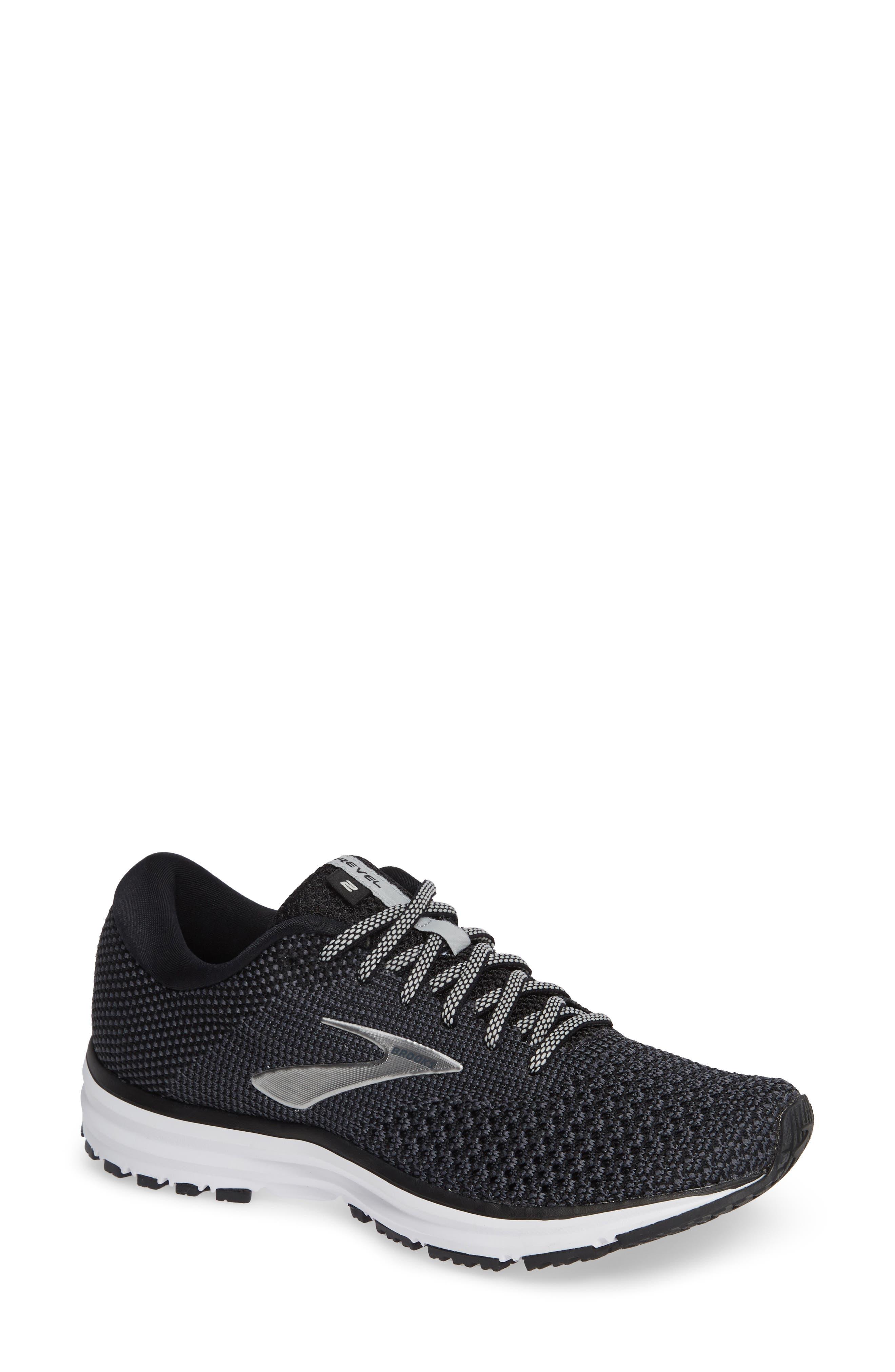 ,                             Revel 2 Running Shoe,                             Main thumbnail 1, color,                             BLACK/ GREY/ GREY