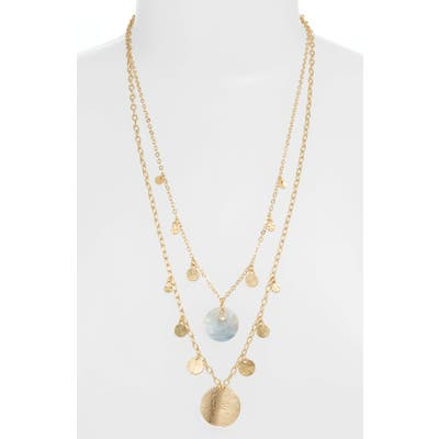 Ettika Set Of 2 Disc Station Necklaces