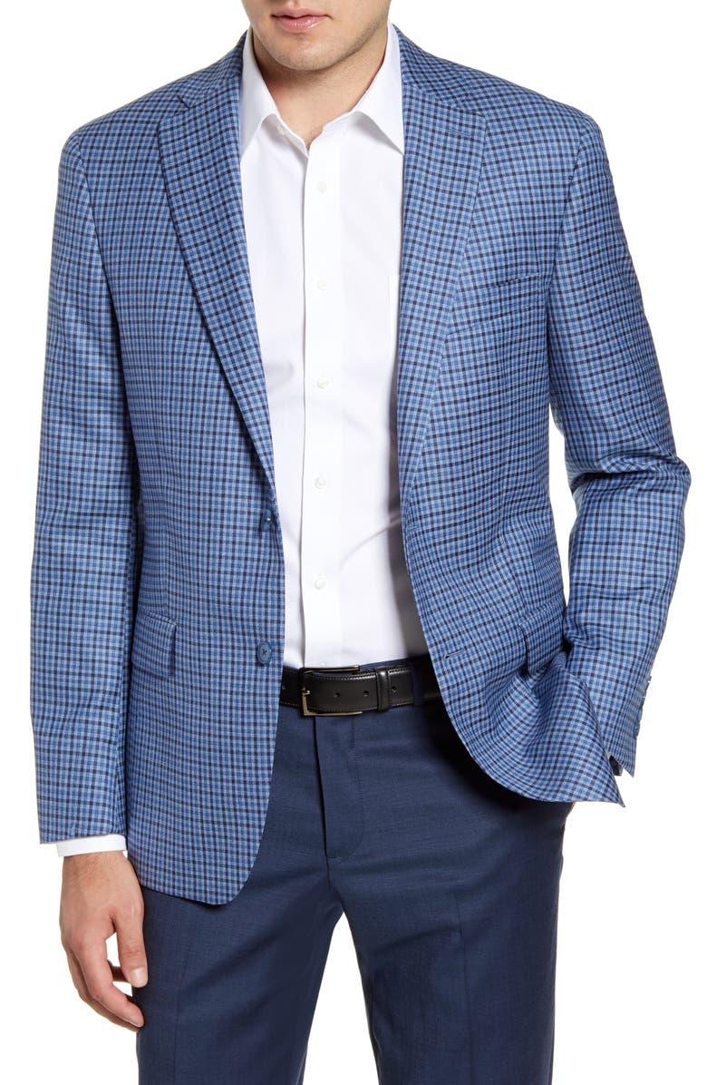 HART SCHAFFNER MARX Classic Fit Check Wool Sport Coat, Main, color, 420