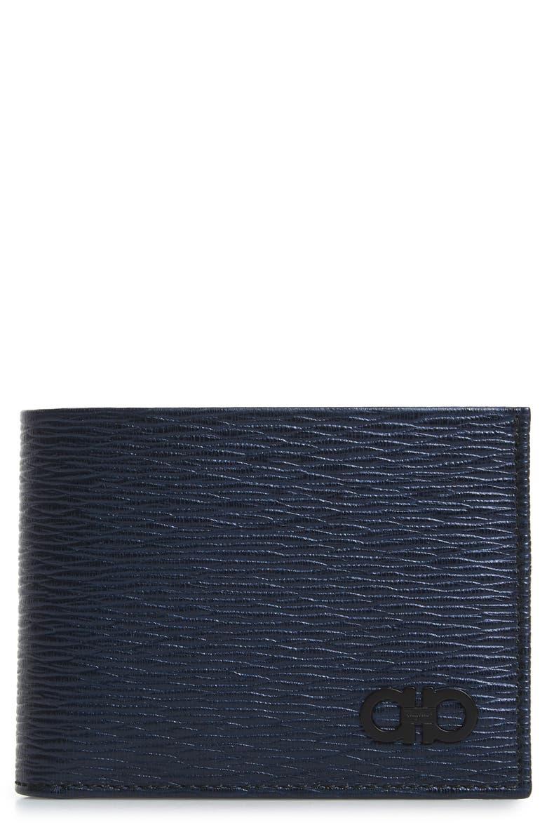 SALVATORE FERRAGAMO Revival Leather Wallet, Main, color, NAVY