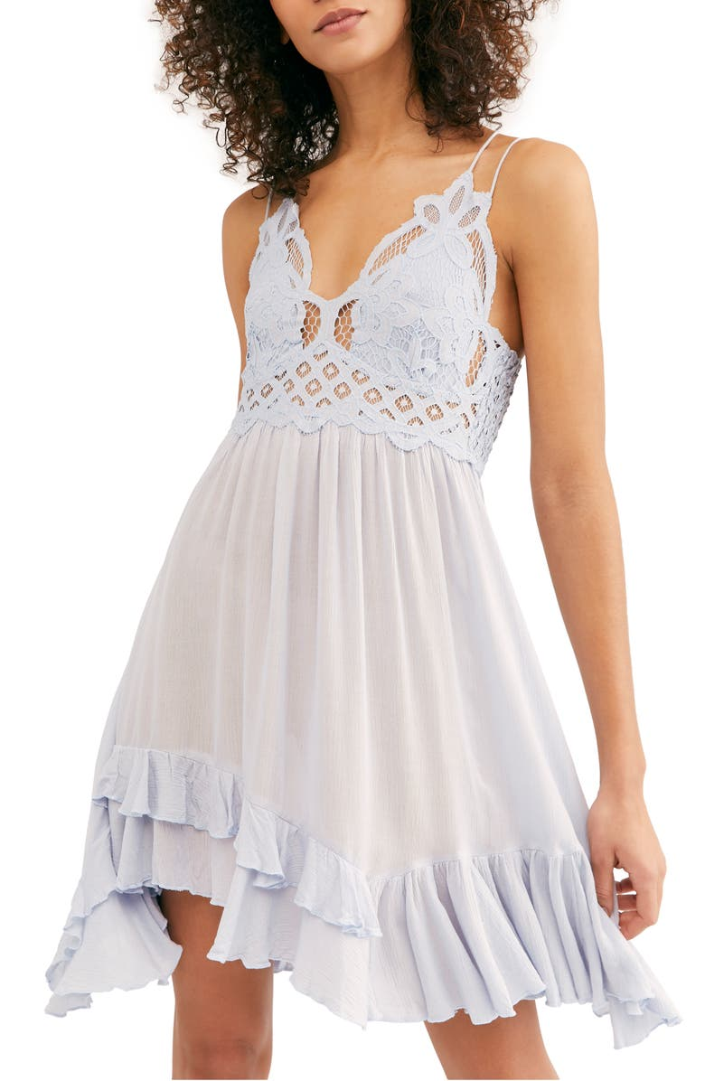 FREE PEOPLE Intimately FP Adella Frilled Chemise, Main, color, 030