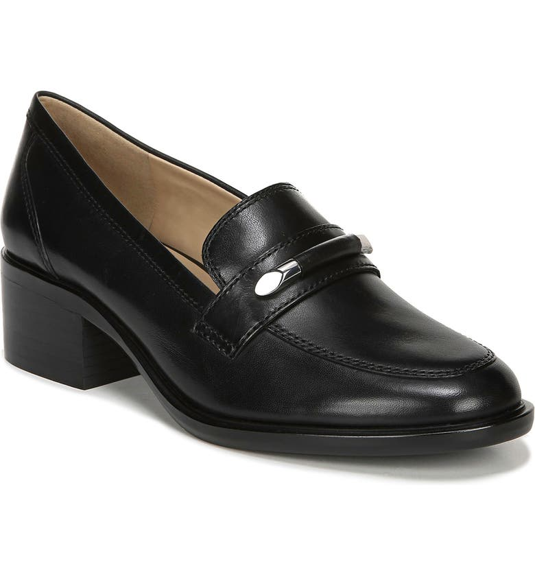 NATURALIZER Perla Loafer, Main, color, BLACK LEATHER