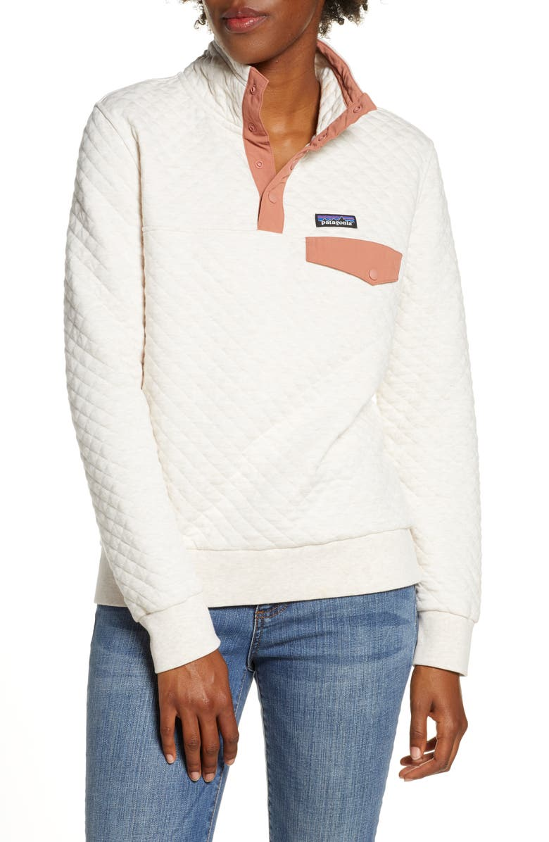 PATAGONIA Snap-T<sup>®</sup> Quilted Pullover, Main, color, DYNO WHITE