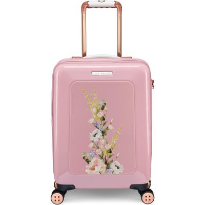 Ted Baker London Small Elegant Print 21-Inch Spinner Carry-On - Pink