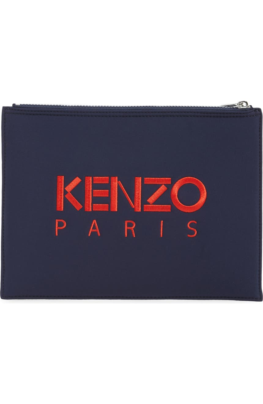 50ff4894a21 KENZO A4 Embroidered Tiger Neoprene Zip Pouch | Nordstrom