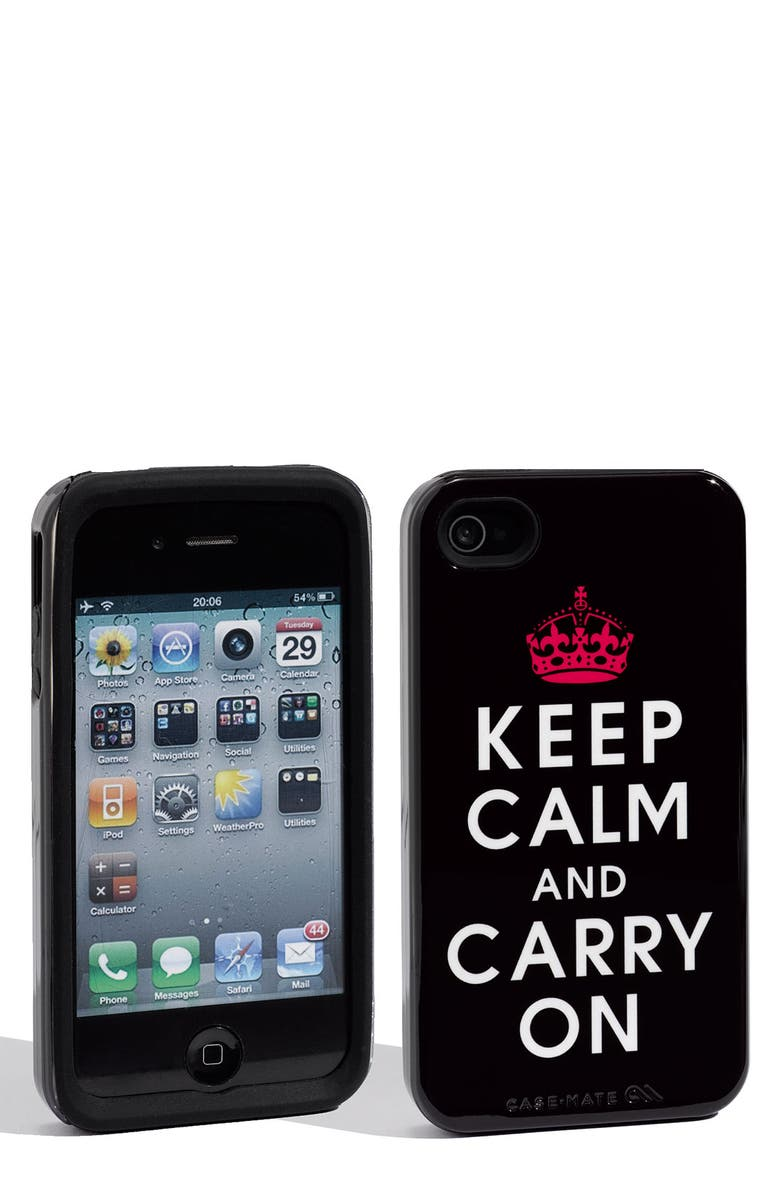 CASE-MATE<SUP>®</SUP> 'Keep Calm and Shop On' iPhone 4 & 4S Case, Main, color, 001