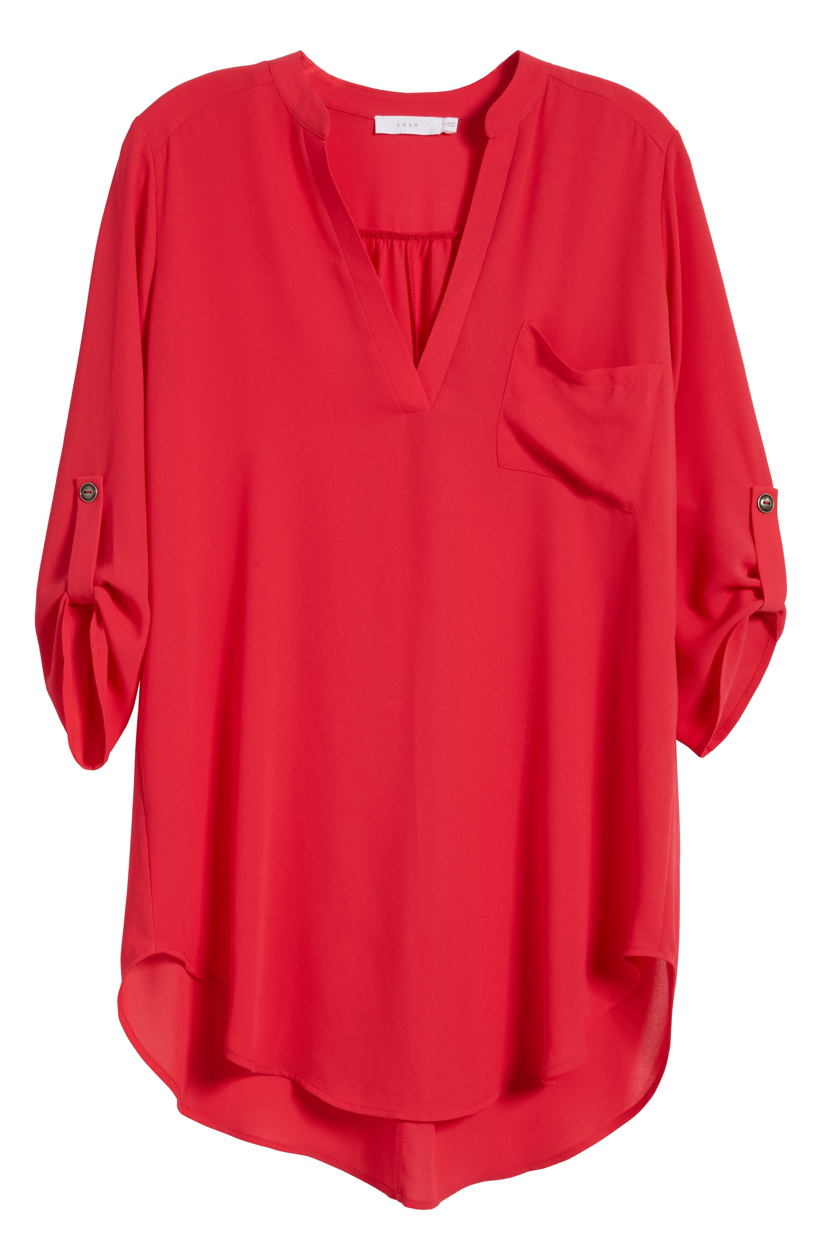 ,                             Perfect Roll Tab Sleeve Tunic,                             Alternate thumbnail 372, color,                             660