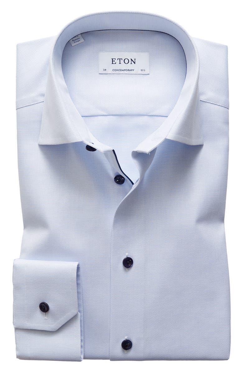 ETON Contemporary Fit Solid Dress Shirt, Main, color, 400