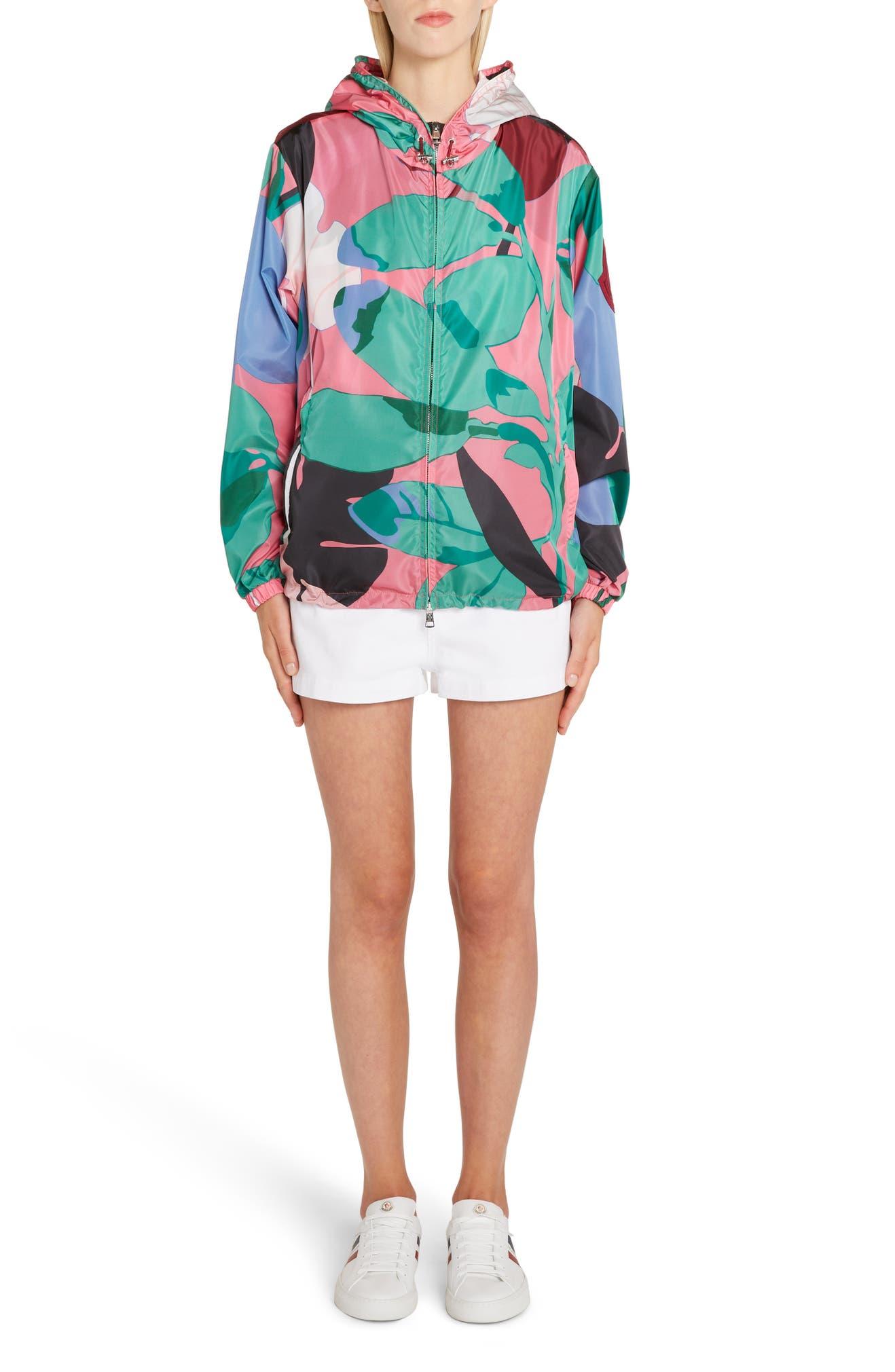 d71950970 Moncler Alexandrite Print Hooded Jacket | Nordstrom