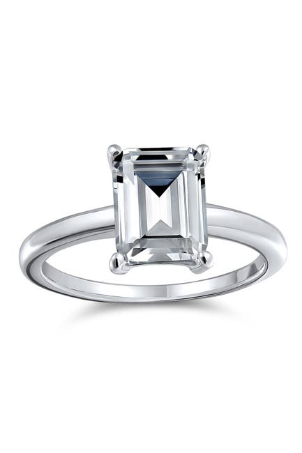 Image of Bling Jewelry Sterling Silver Brilliant Cut CZ Solitaire Engagement Ring