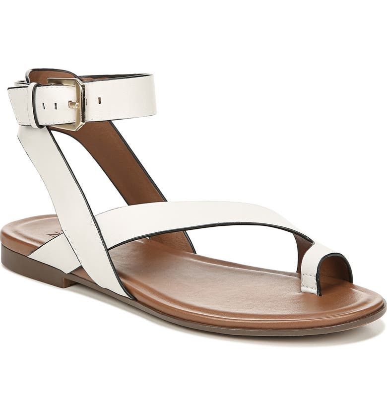 NATURALIZER Tally Ankle Strap Sandal, Main, color, ALABASTER LEATHER
