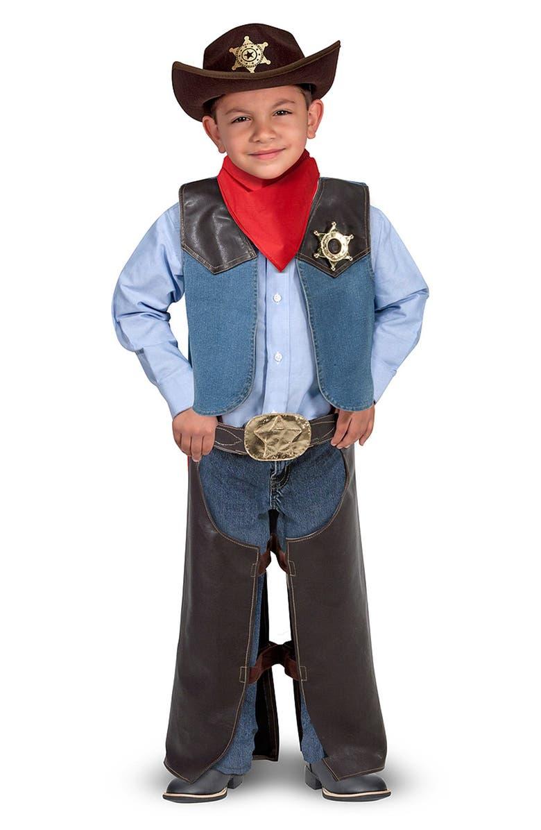 MELISSA & DOUG Cowboy Role Play Set, Main, color, 200