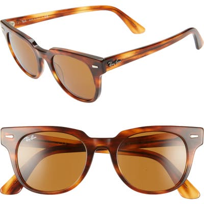 Ray-Ban Wayfarer 50Mm Square Sunglasses - Striped Havana