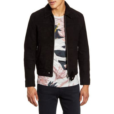 Deadwood Sharpe Suede Jacket, Black