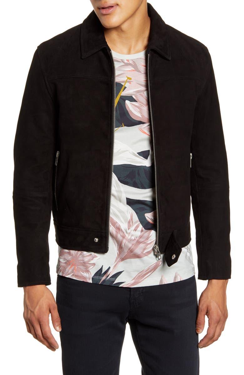 DEADWOOD Sharpe Suede Jacket, Main, color, BLACK