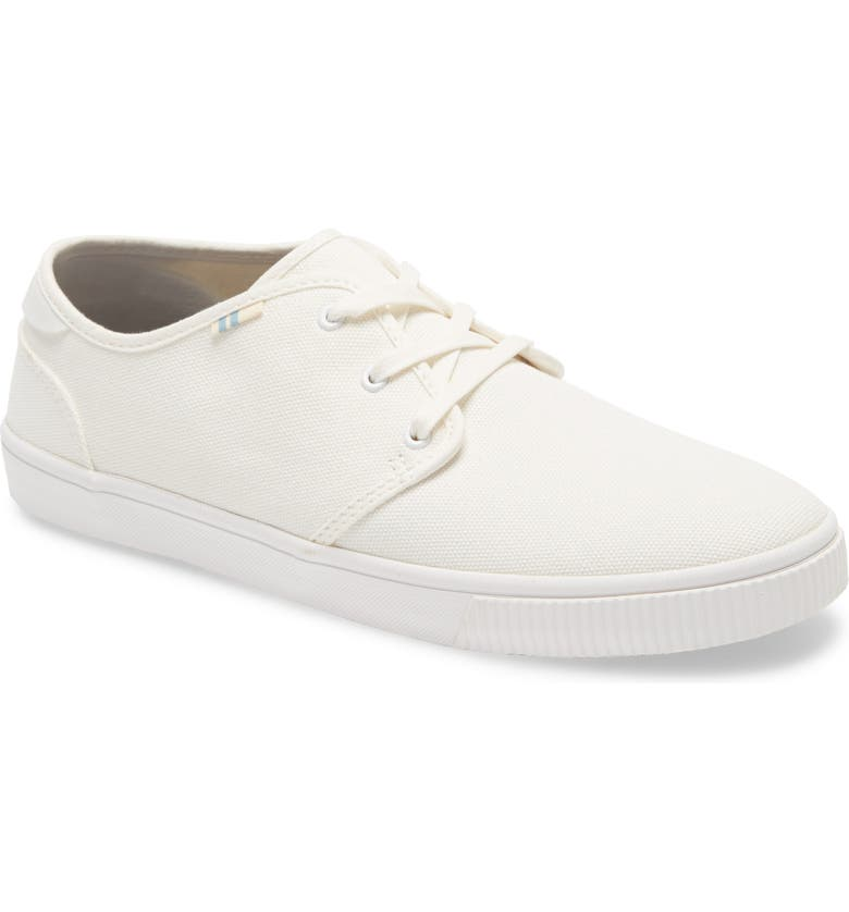 TOMS Carlo Low Top Sneaker, Main, color, WHITE