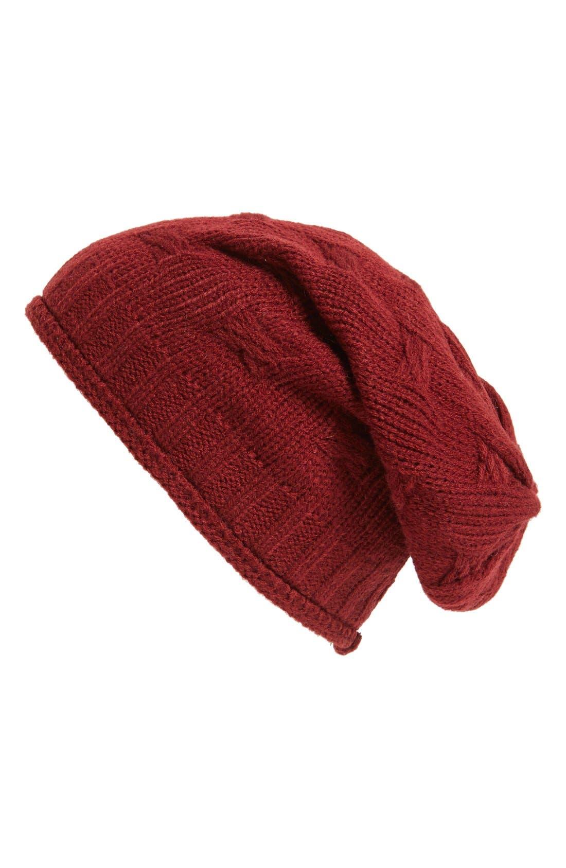 ,                             Braid Knit Beanie,                             Main thumbnail 7, color,                             930