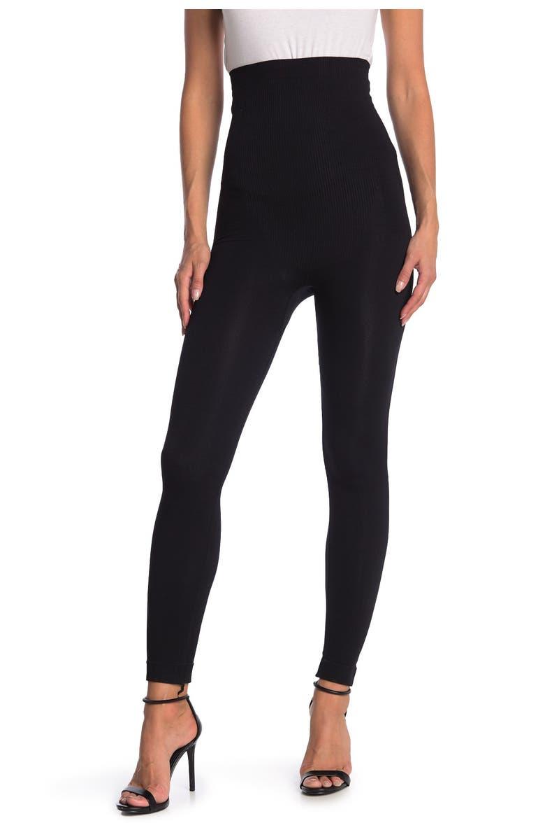 SECRET LACE High Waisted Shapewear Leggings, Main, color, BLACK