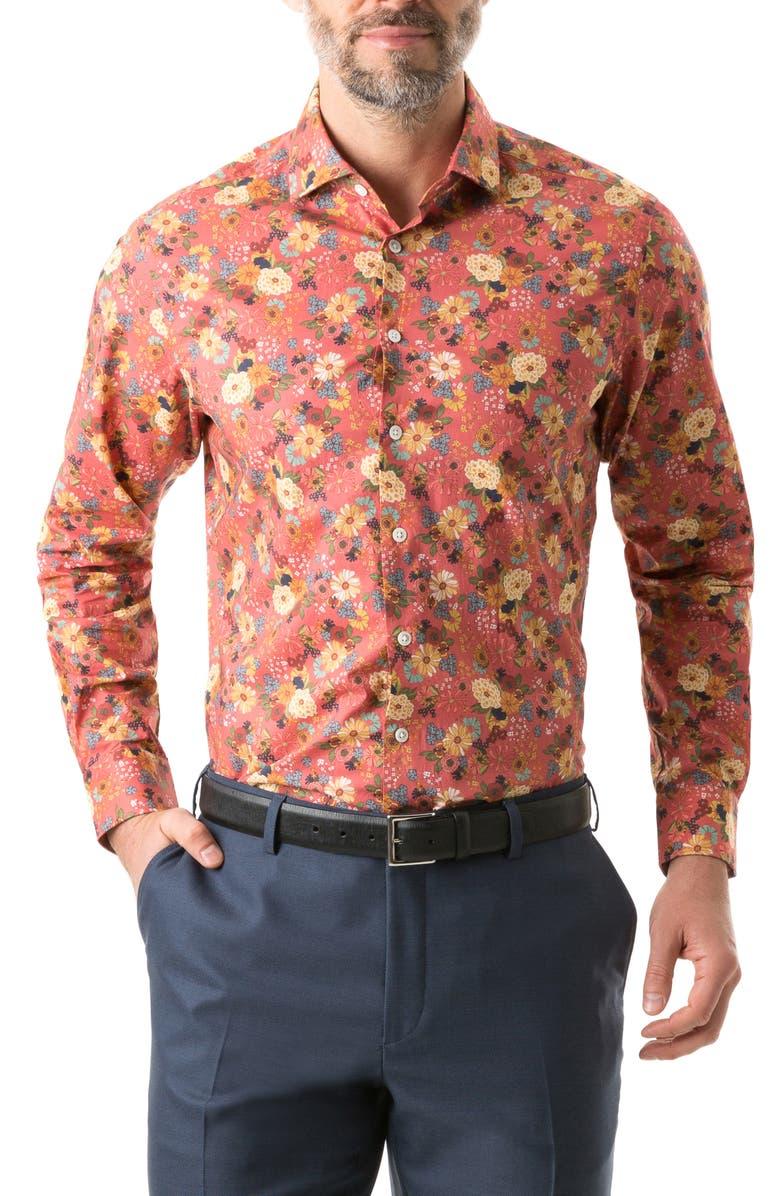 RODD & GUNN Southark Regular Fit Cotton Shirt, Main, color, ROSE