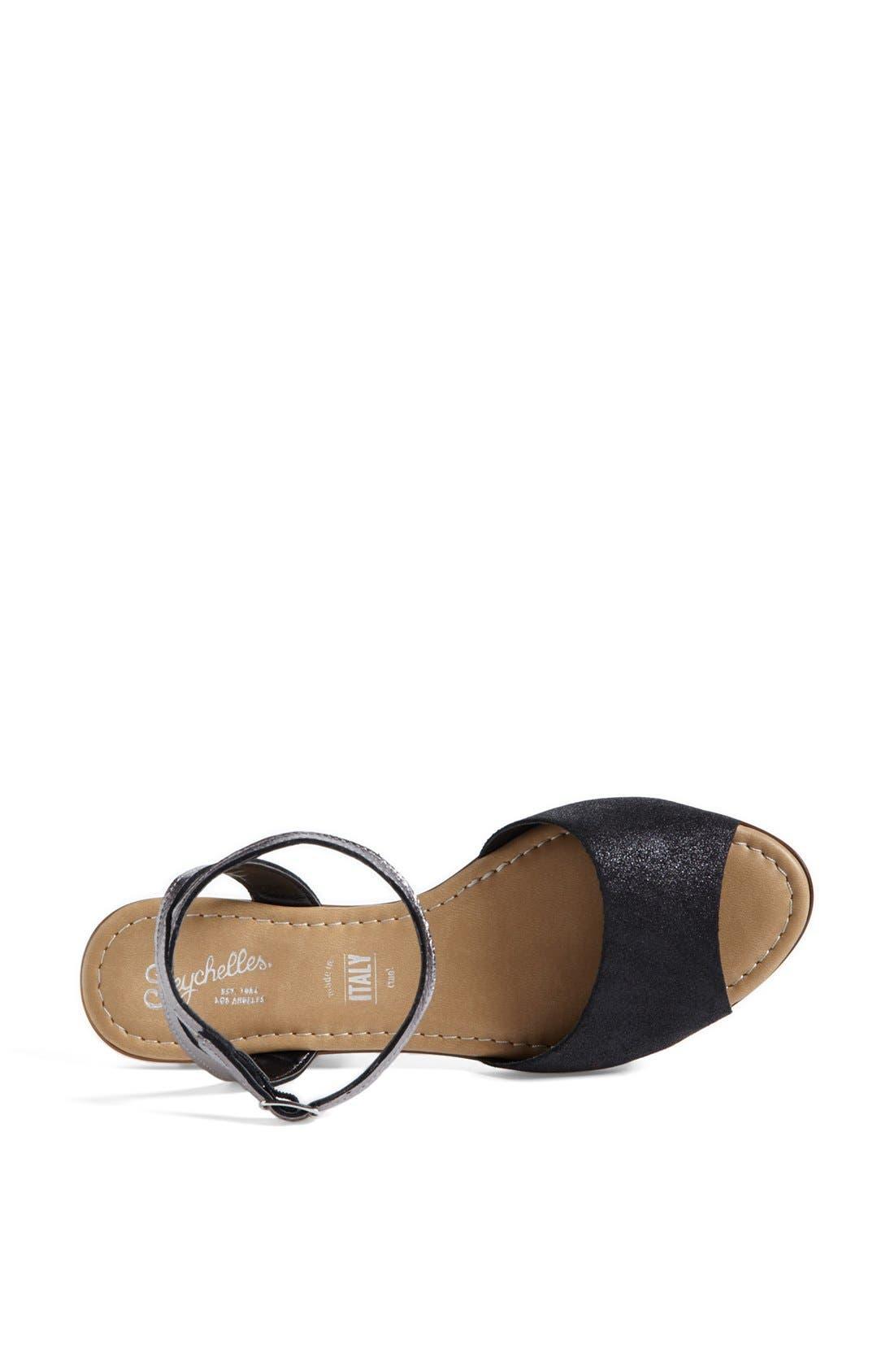 ,                             'Brand New' Ankle Strap Calf Hair Sandal,                             Alternate thumbnail 3, color,                             001