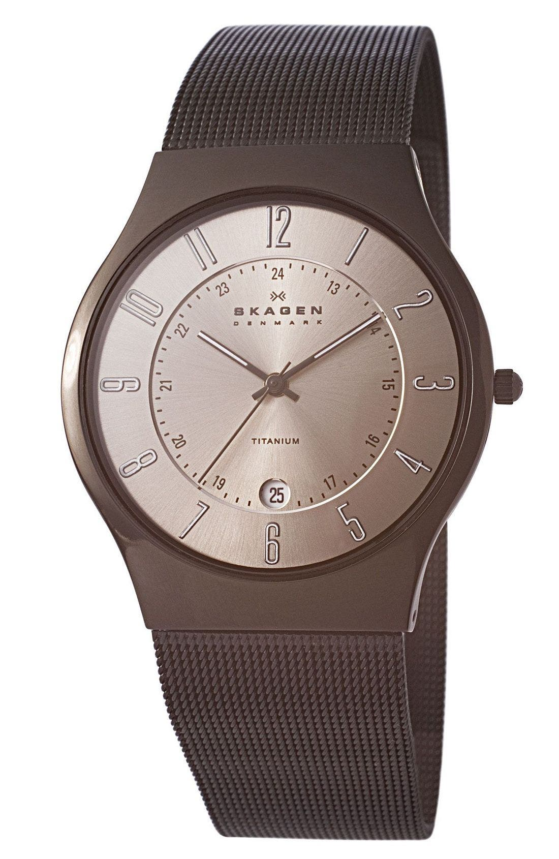 ,                             'Grenen' Titanium Case Watch,                             Main thumbnail 7, color,                             040