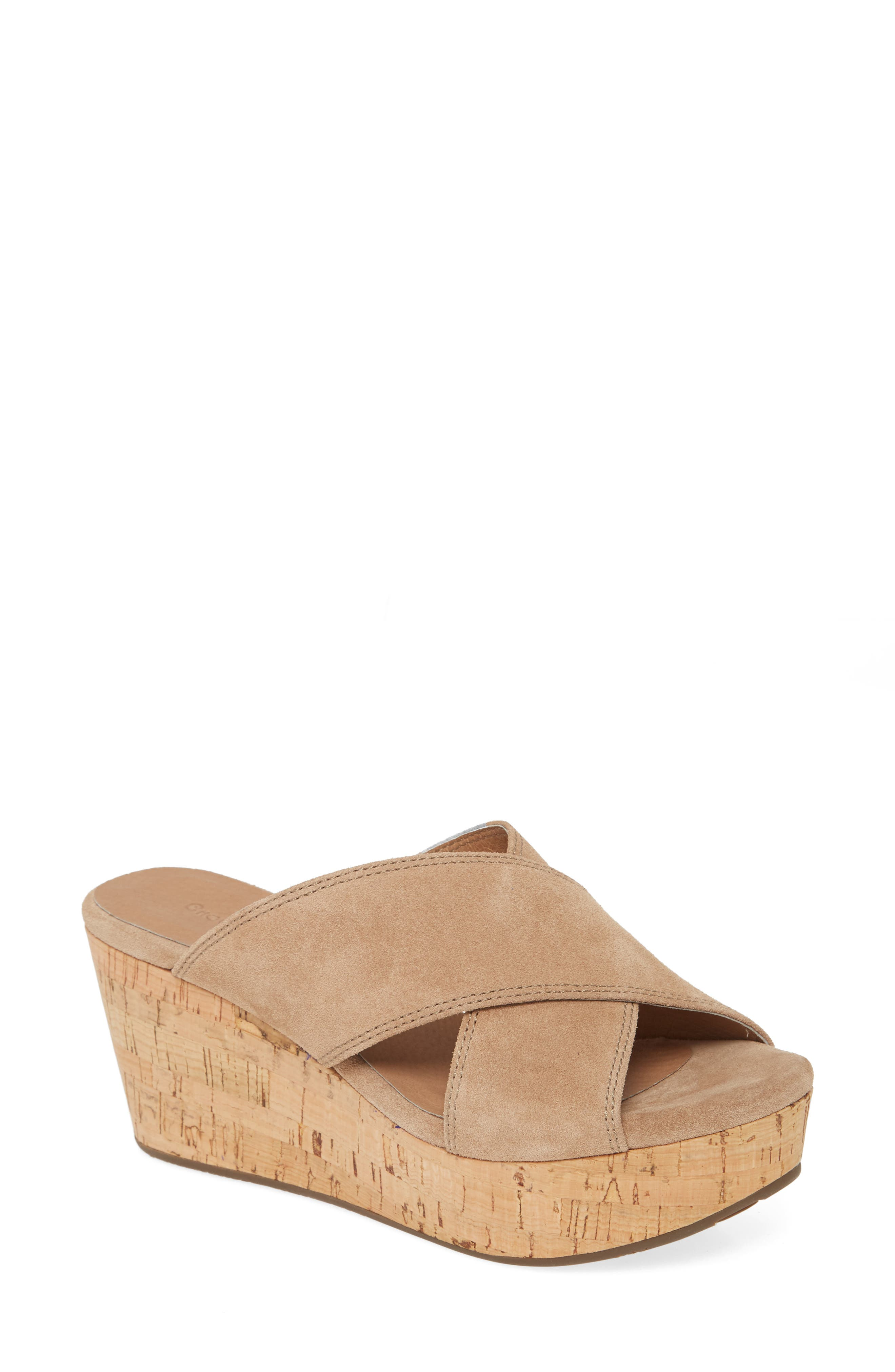 Chocolat Blu WENDY WEDGE SLIDE SANDAL