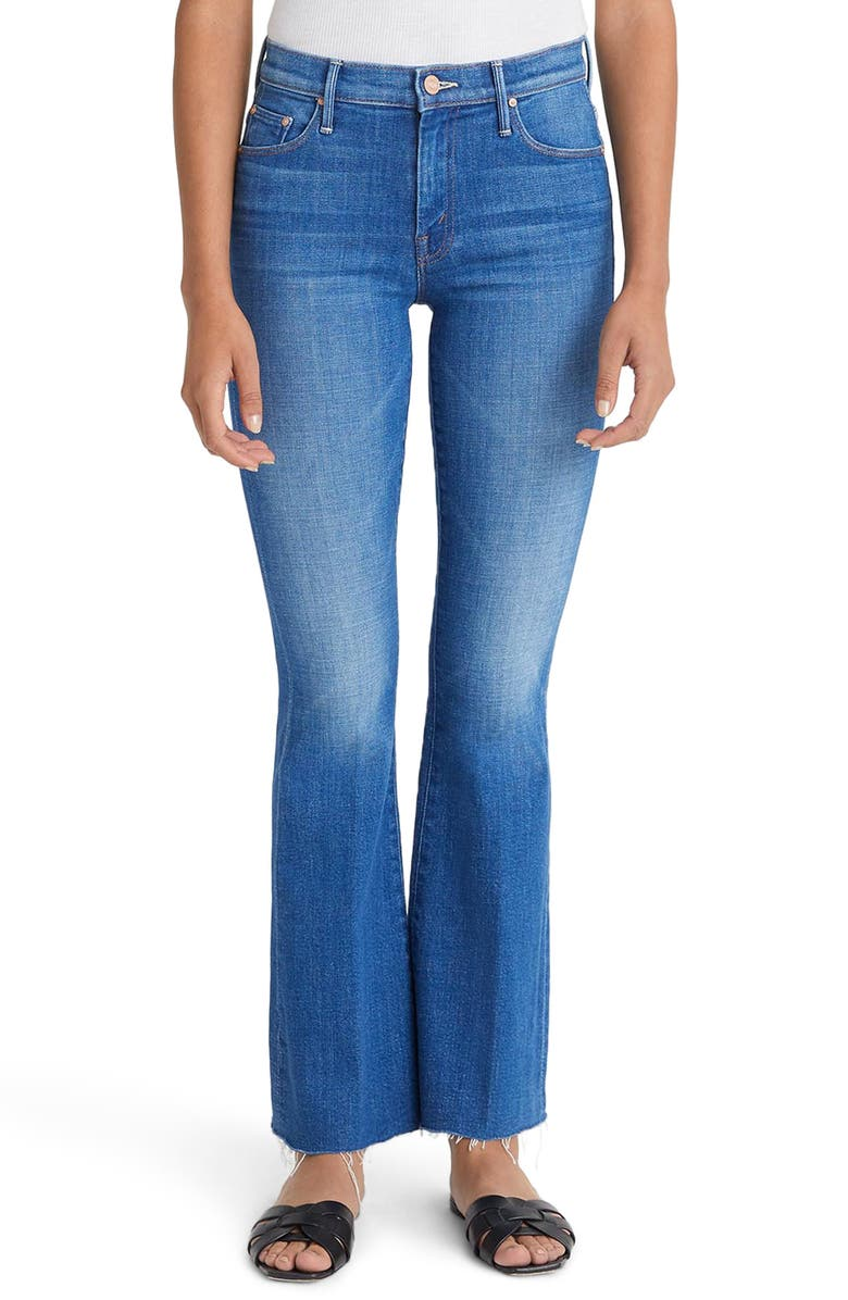 MOTHER High Waist Fray Hem Jeans, Main, color, DOUBLE VISION
