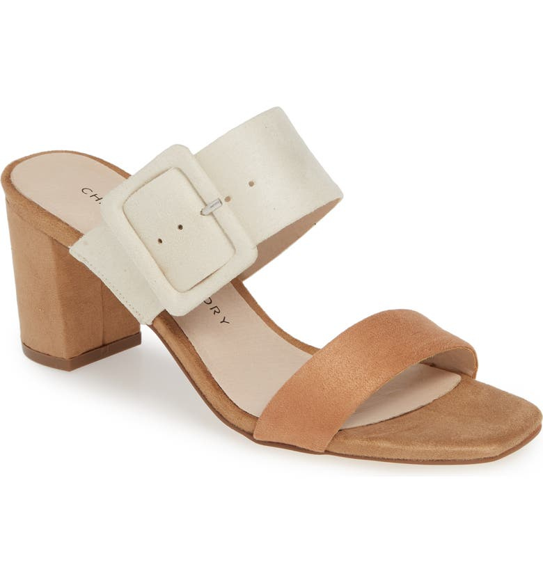 CHINESE LAUNDRY Yippy Block Heel Sandal, Main, color, CREAM MULTI SUEDE