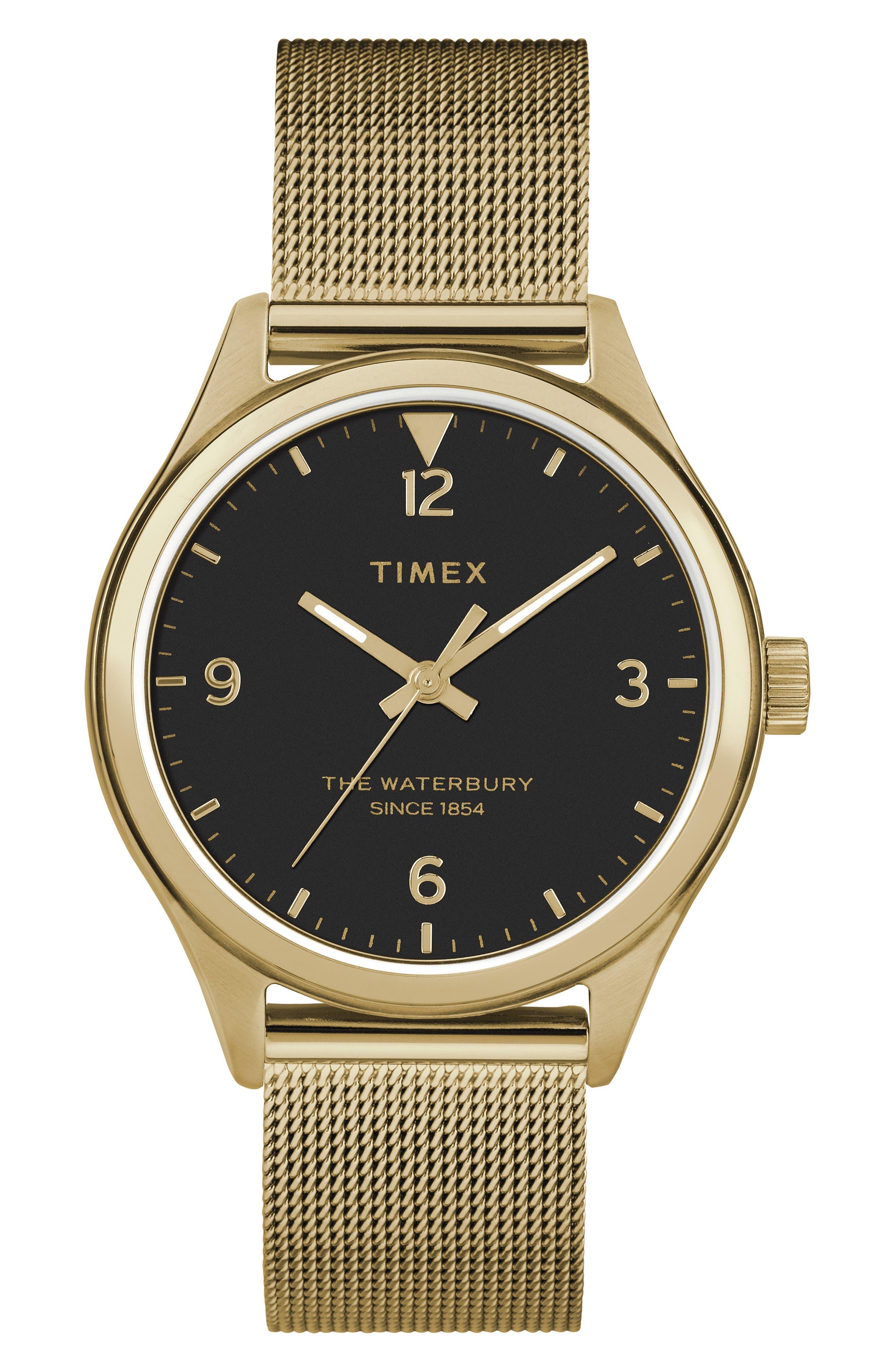 Timex Waterbury Mesh Strap Watch,