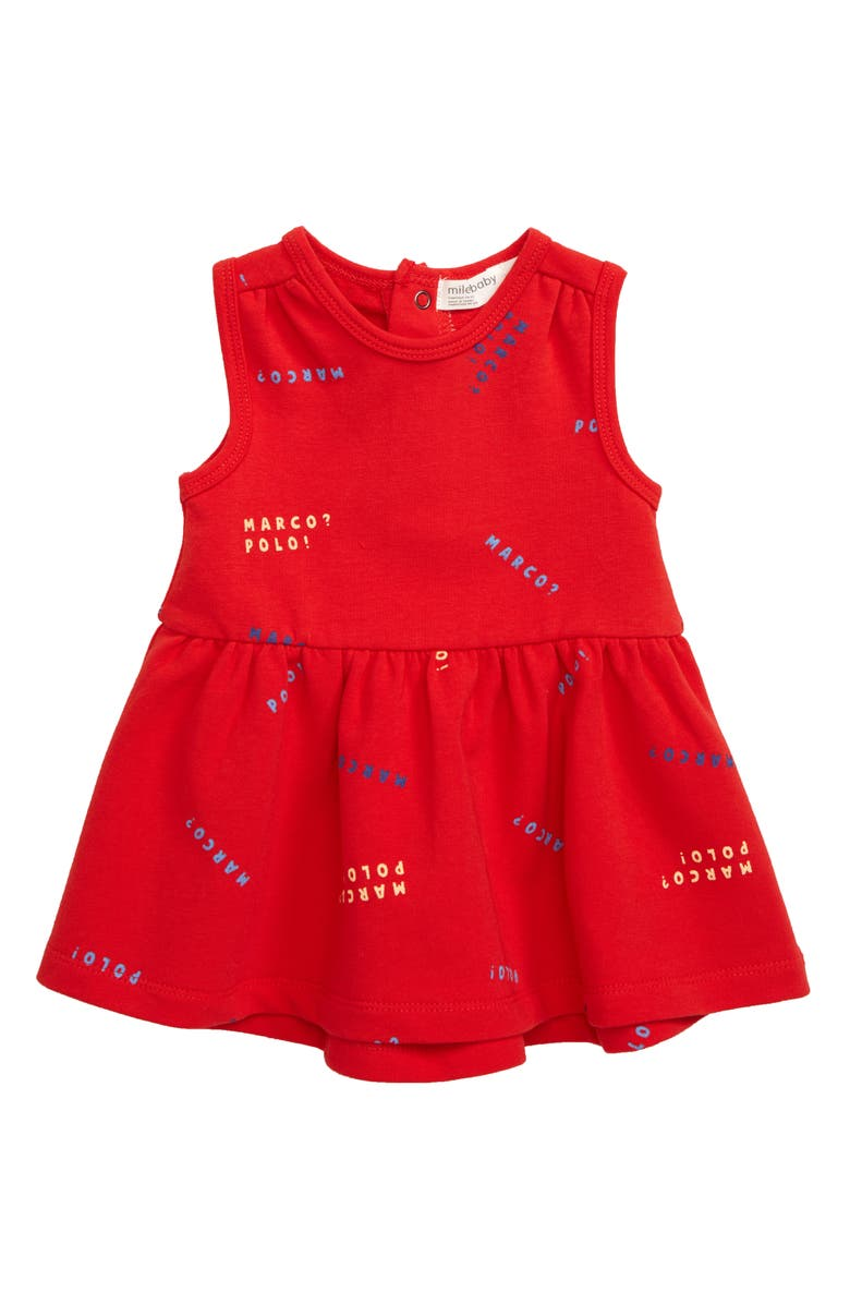 MILES BABY Marco Print Dress, Main, color, 600