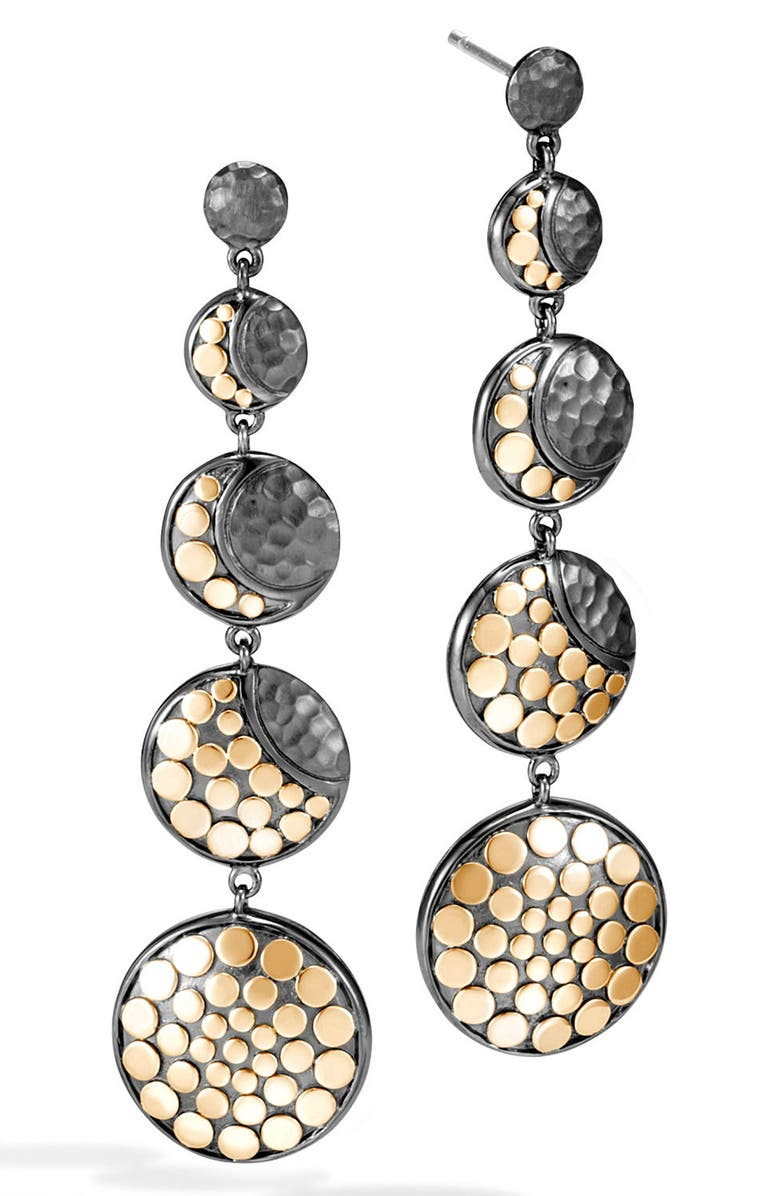 JOHN HARDY Dot Moon Phase Drop Earrings, Main, color, SILVER