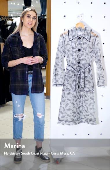 Jen Cheetah Print Translucent Trench Raincoat, sales video thumbnail
