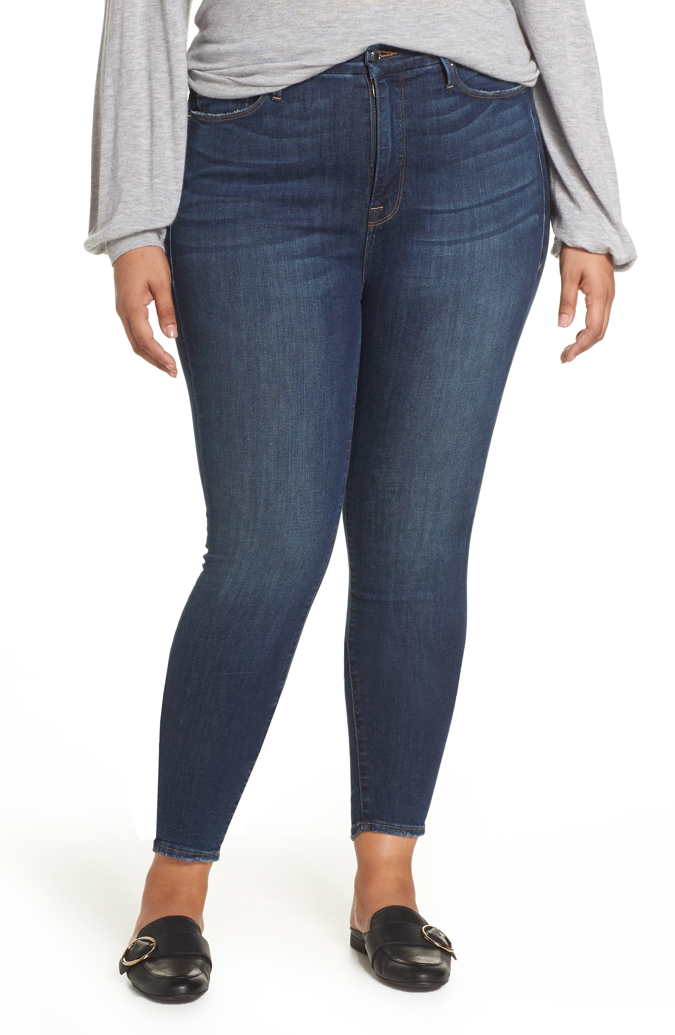 ,                             Good Legs High Waist Skinny Jeans,                             Alternate thumbnail 13, color,                             403