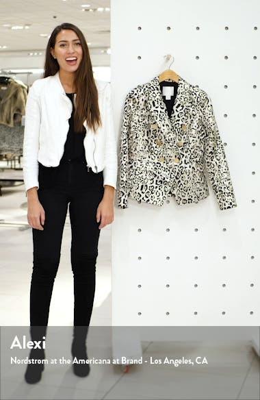 Metallic Leopard Jacquard Blazer, sales video thumbnail