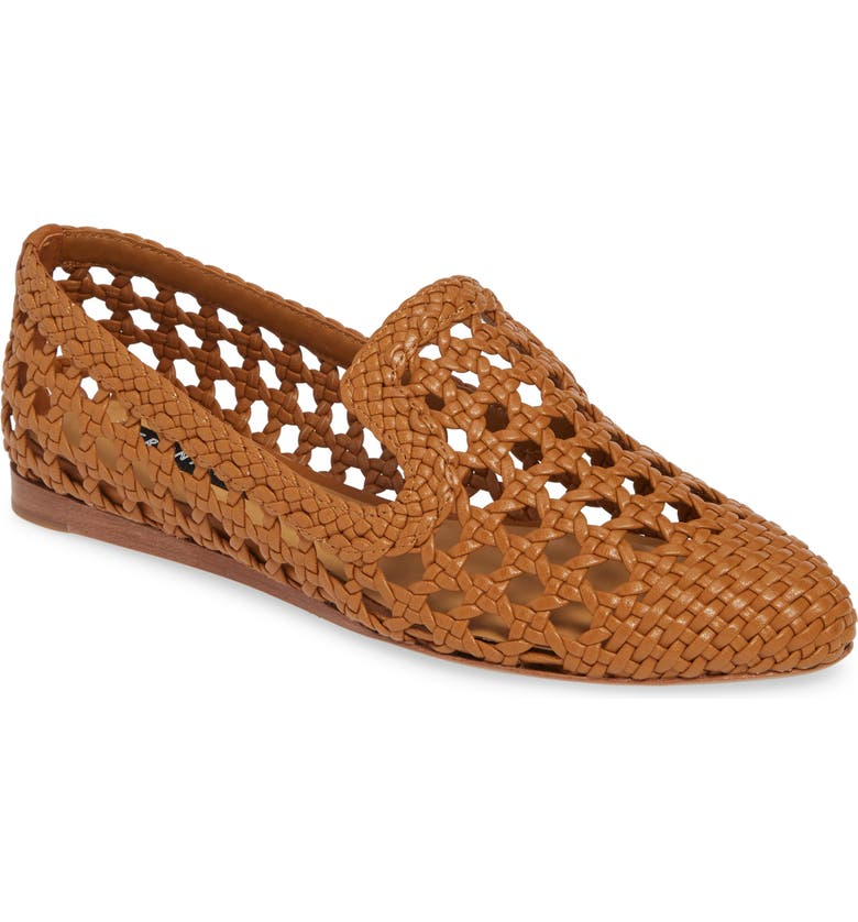 VERONICA BEARD Griffin Woven Loafer, Main, color, ALMOND