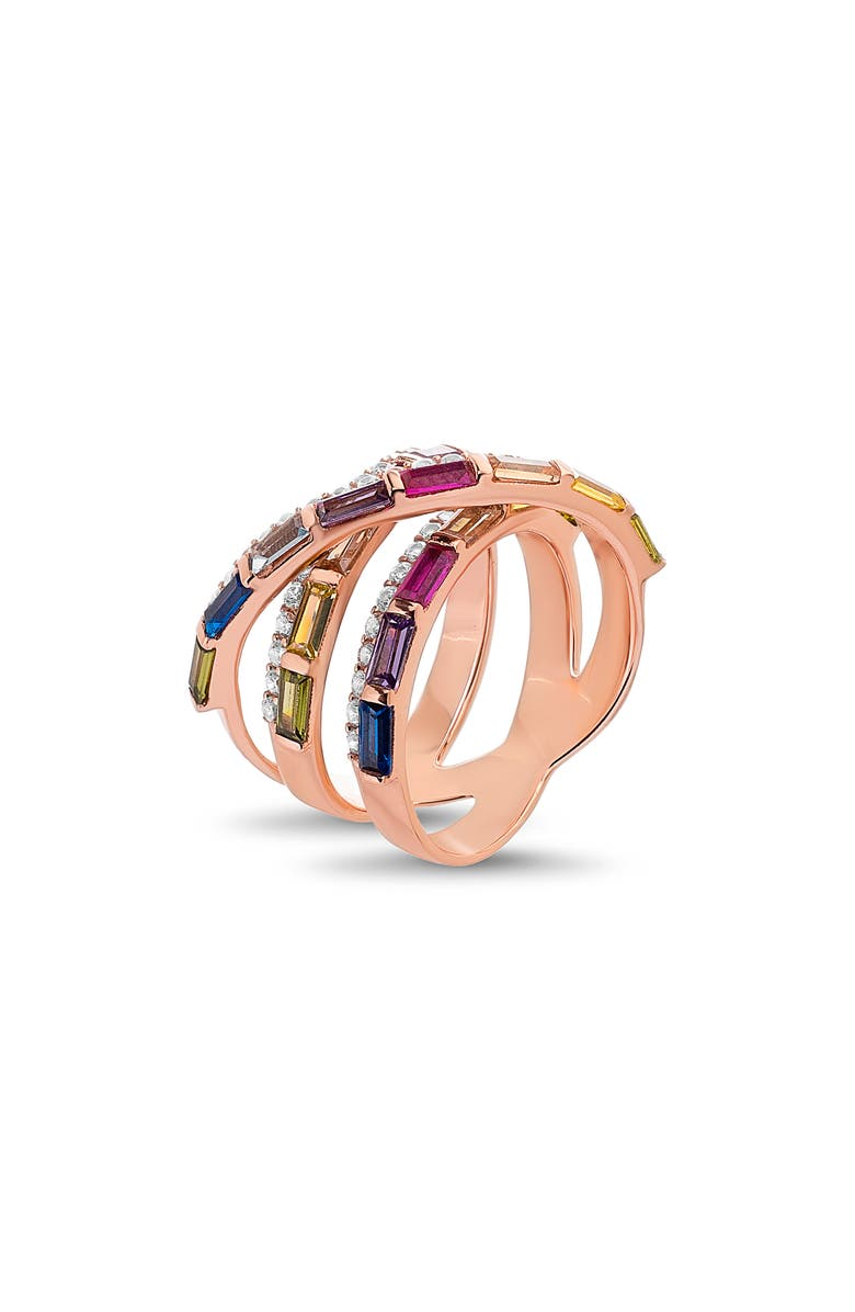 LESA MICHELE Crossover Ring, Main, color, 710