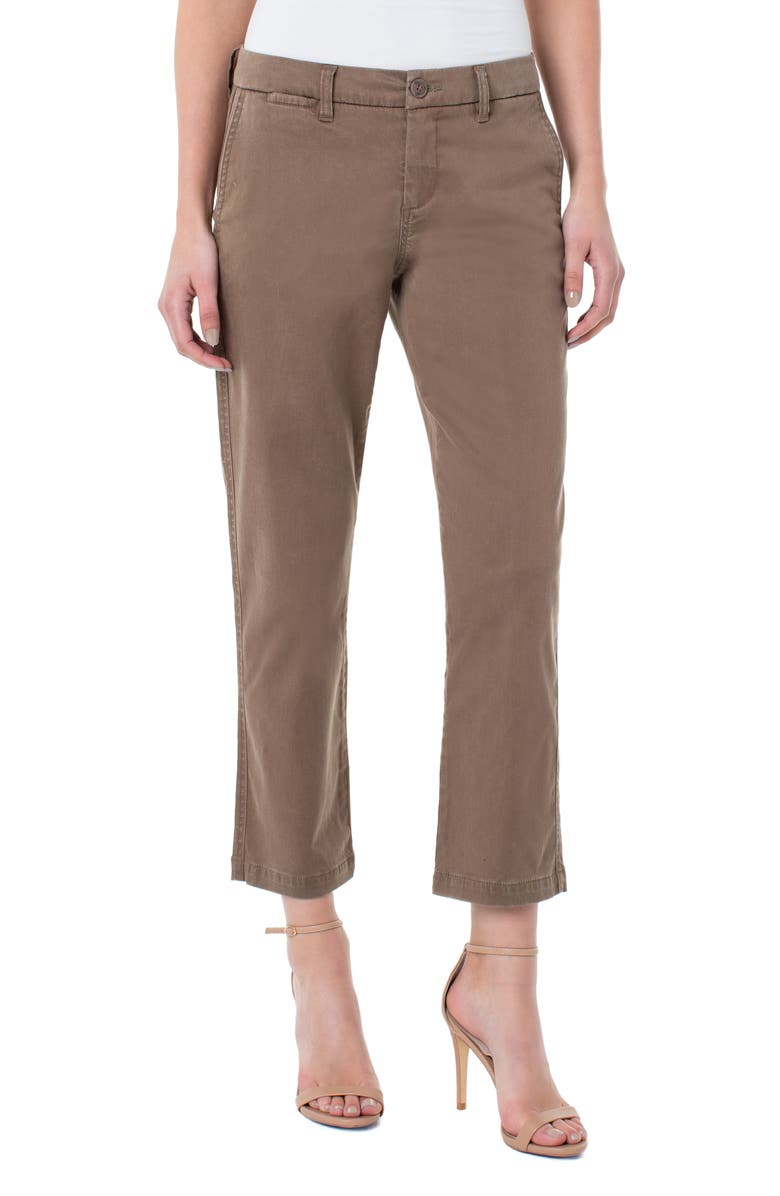 LIVERPOOL Bobbie Ankle Trousers, Main, color, CHOCOLATE CHIP