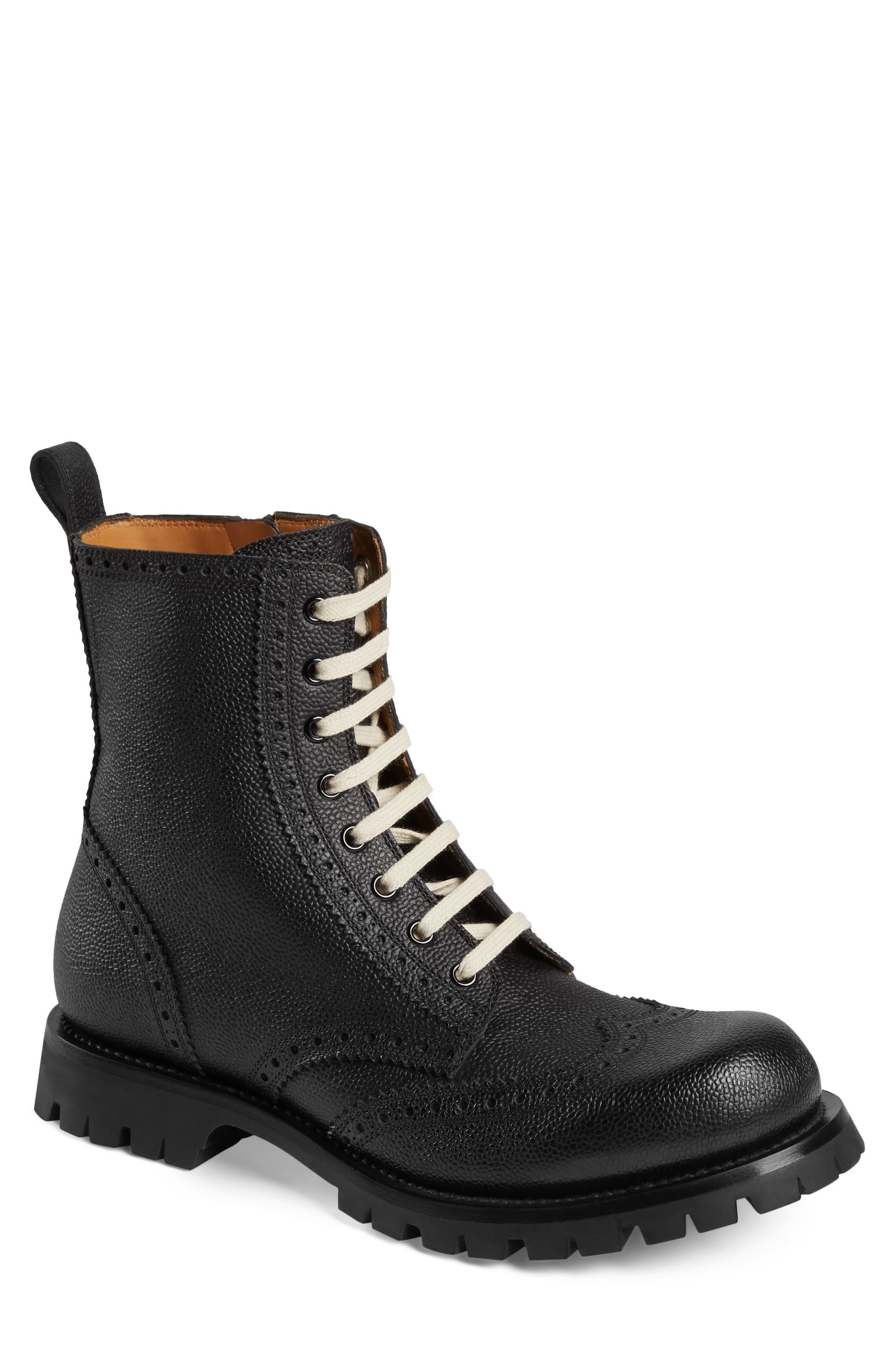Gucci Brogue Boot, Black